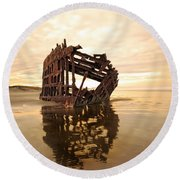 High And Dry, The Peter Iredale Round Beach Towel