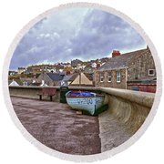 Round Beach Towel featuring the photograph High And Dry by Anne Kotan