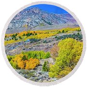 High Country Color Round Beach Towel