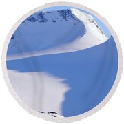 High Country, Norway Round Beach Towel