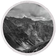 High Country Valley Round Beach Towel
