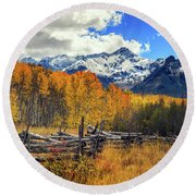 High County Ablaze Round Beach Towel