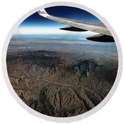 Round Beach Towel featuring the photograph High Desert From High Above by T Brian Jones