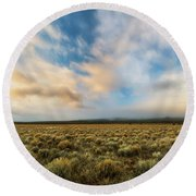 High Desert Morning Round Beach Towel