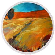 High Desert Round Beach Towel