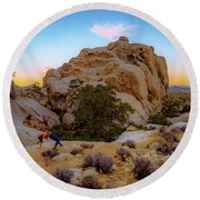 Round Beach Towel featuring the photograph High Desert Pose by T Brian Jones