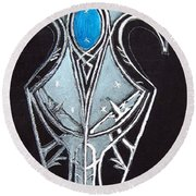 High Elven Warrior Shield  Round Beach Towel