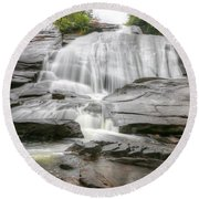 High Falls Of Dupont State Forest Round Beach Towel