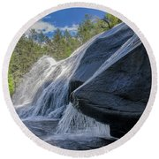 High Falls One Round Beach Towel by Steven Richardson