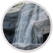 High Falls Two Round Beach Towel by Steven Richardson