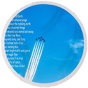 High Flight Round Beach Towel
