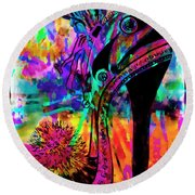 High Heel Heaven Abstract Round Beach Towel