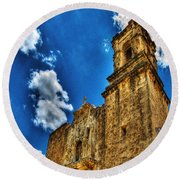 High Noon At The Bell Tower Round Beach Towel