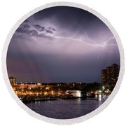 High Point Place Nights Round Beach Towel