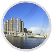 High Point Place Round Beach Towel
