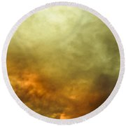 Round Beach Towel featuring the photograph High Pressure Skyline by Jorgo Photography - Wall Art Gallery