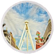 High Roller Wheel, Las Vegas Round Beach Towel