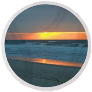 High Sunrise Round Beach Towel by  Newwwman