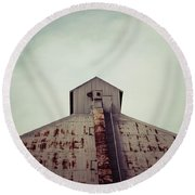 Round Beach Towel featuring the photograph High View by Trish Mistric