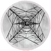 High Voltage Power Round Beach Towel