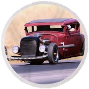 Highboy Coupe Round Beach Towel