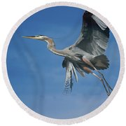 Higher Places Round Beach Towel