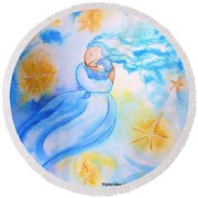Higher Then The Stars Round Beach Towel