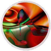 Highheels Red And Green Round Beach Towel