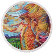 Highland Breeze Round Beach Towel