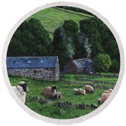 Highland Croft Round Beach Towel