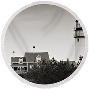 Highland Light At Cape Cod Round Beach Towel