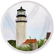 Highland Lighthouse II Round Beach Towel