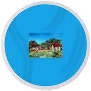 Highveld House Round Beach Towel by Tim Johnson