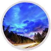 Highway 7 To Heaven Round Beach Towel by James BO Insogna