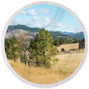 Highway 97 Ranch Memories Round Beach Towel