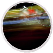 Highway Lights Round Beach Towel