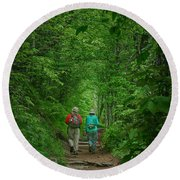 Hiking - Appalachian Trail Round Beach Towel