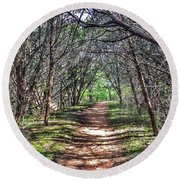 Hiking Meridian State Park  Round Beach Towel