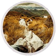 Hiking The Mount Sprent Trail Round Beach Towel