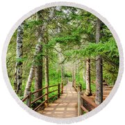 Hiking Trail Round Beach Towel