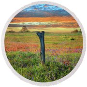 Hill Country Heaven Round Beach Towel