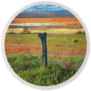 Hill Country Heaven Round Beach Towel by Lynn Bauer