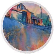 Hill Country Spring No 3 Round Beach Towel