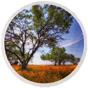 Hill Country Spring Round Beach Towel