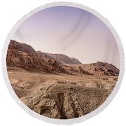 Hills By The Dead Sea Round Beach Towel