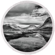 Hills Of Vesteralen Round Beach Towel
