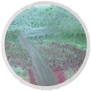 Hillside Round Beach Towel by Karen Nicholson