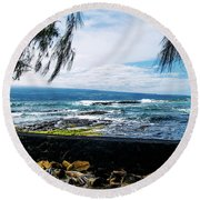 Hilo Bay Dreaming Round Beach Towel