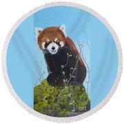 Himalayan Red Panda Round Beach Towel