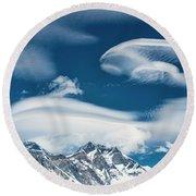 Himalayan Sky Round Beach Towel